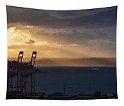 Elliott Bay Sunrays Tapestry