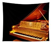 Elvis' Gold Piano Tapestry