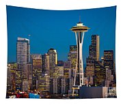 Emerald City Evening Tapestry