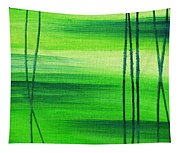 Emerald Flow Abstract IIi Tapestry