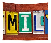 Emily License Plate Name Sign Fun Kid Room Decor Tapestry