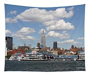 Empire State From The Water Tapestry