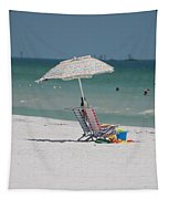 Empty Chairs Tapestry