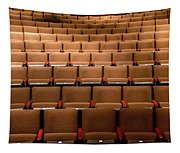 Empty Theater Chairs In Ventura Arts Tapestry