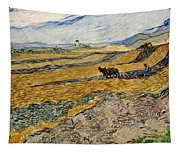 Enclosed Field With Plowman  Tapestry