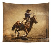 End Of Trail Mounted Shooting Tapestry