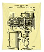 Engine Patent 1920 Tapestry