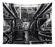 Engine Room Queen Mary 02 Bw 01 Tapestry