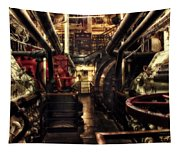 Engine Room Queen Mary 02 Sepia Tapestry