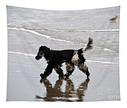 English Cocker Spaniel On The Beach Tapestry
