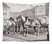English Farm Horses, 1823 Tapestry