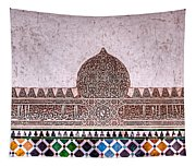 Engraved Writing And Colored Tiles No1 Tapestry