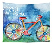 Enjoy The Ride- Colorful Bike Painting Tapestry