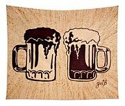 Enjoying Beer Tapestry