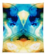 Enlightenment - Abstract Art By Sharon Cummings Tapestry