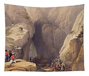 Entrance To The Kojak Pass From Parush Tapestry