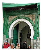 Entry To A Mosque For Men Only In Tangiers-morocco Tapestry