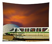 Epcot Riding The Rail Tapestry