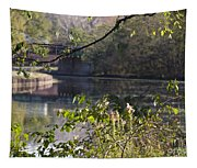 Erie Canal At Bushnell Basin Tapestry