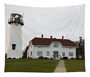 Evening At Chatham  Lighthouse Tapestry