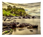 Evening At Dunluce Castle Tapestry