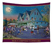 Evening In Campton Village Tapestry