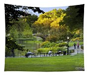 Evening In Central Park Tapestry