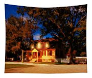 Evening In Small Town U. S. A. Tapestry
