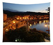 Evening Light In Collioure Tapestry