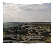 Evening On Stanage Edge Tapestry