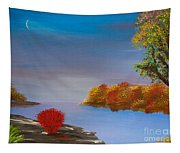 Evening On The Last Sunny Day Tapestry