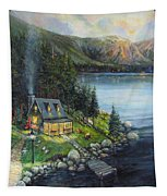 Evening Visitors Tapestry