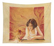 Everyday Angel With Flower Tapestry