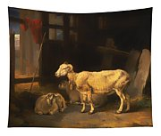 Ewe And Lambs Tapestry