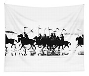 Exhibition Platoon Of The 11th U.s. Cavalry On Del Monte Beach Monterey California 1935 Tapestry