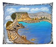 Exotic Beach Near Limassol Tapestry