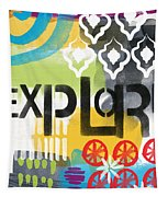 Explore- Contemporary Abstract Art Tapestry