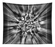 Explosive Abstract Black And White By Kaye Menner Tapestry