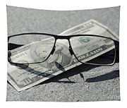 Eyeglasses And Money Tapestry
