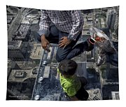 Eyes Down From The 103rd Floor Little Dude With No Fear Tapestry