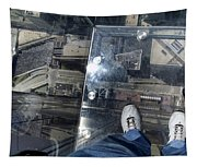 Eyes Down From The 103rd Floor One Big Step Tapestry