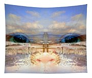 Eyes Of A Child Winter Blues Tapestry