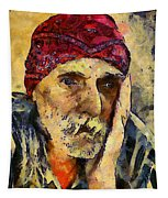 Eyes Of Sadness Tapestry
