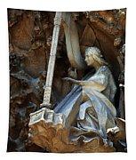 Facade Of Sagrada Familia Tapestry