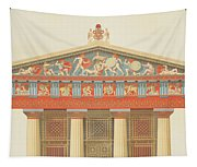 Facade Of The Temple Of Jupiter Tapestry
