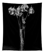 Faded Long Stems - Bw Tapestry