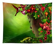 Fae In The Flower Hat Tapestry