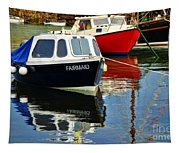 Fairmaid At Mousehole Harbour Tapestry