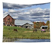Fall At The Horse Farm Tapestry