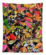 Fall Blueberry Bush Tapestry